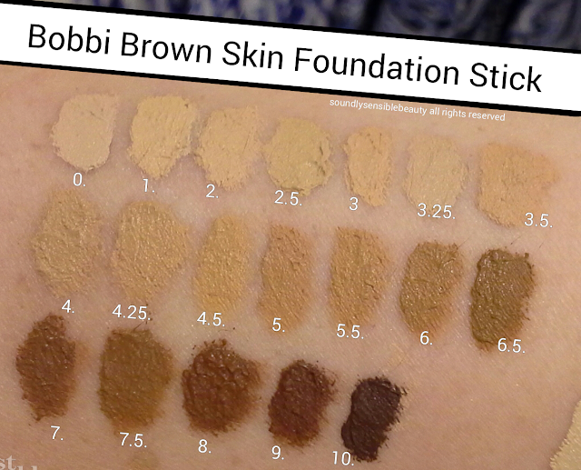 Bobbi Brown Skin Foundation Stick Shades