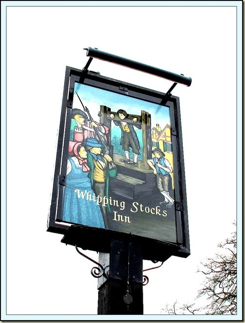 Whipping Stocks Inn sign