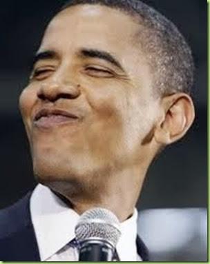 Obama -smirk