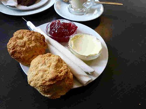Cream tea in England