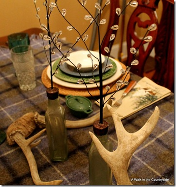 A Walk in the Countryside: Winter tablescape with plaid blanket