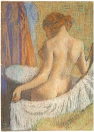 Edgar Degas, After the Bath, Woman with a Towel, 1893-1897