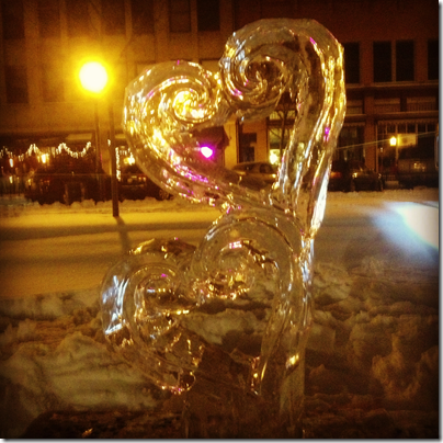 Wausau Winterfest 2013 Ice Sculpture