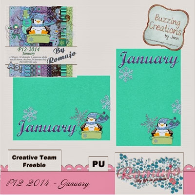 Romajo - P12 2014 January - January Freebie Preview