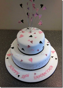 2-tier-hearts-birthday-cake-in-black,pink-and-silver