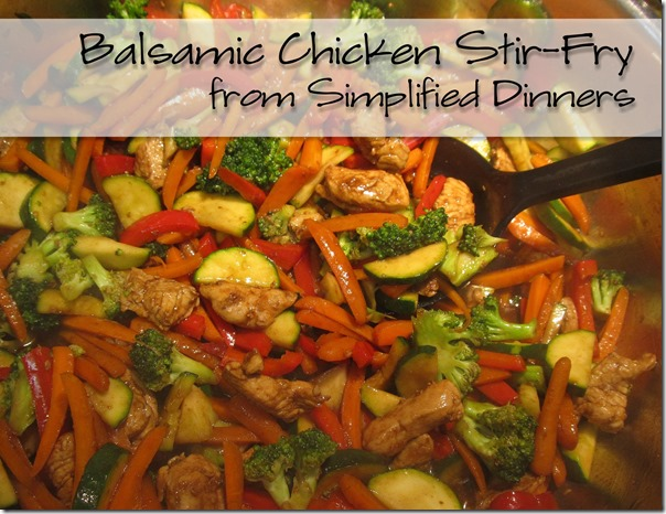 Simplified Dinners Balsamic Chicken Stir Fry