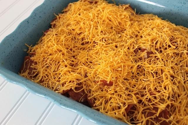 breakfast casserole with pepperoni