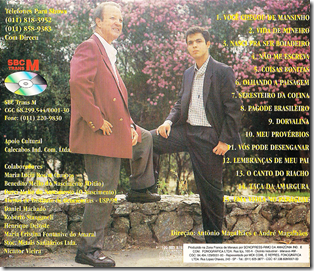 Dirceu e Marcelo Viola 1998 Verso