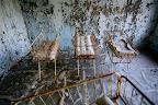 Uno de los hospitales en Pripyat, una ciudad de 47,000 personas cercana al accidente de la planta de energía nuclear de Chernobyl, la cual totalmente se evacuó a días del accidente, abril 2 del 2006