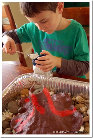 how to make a volcano explode at home