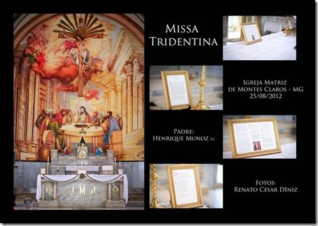 MISSA TRIDENTINA EM MONTES CLAROS