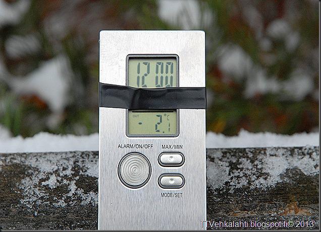 laskiais tiistain virallinen lämpötila 2.1astetta sakari Turpein 020