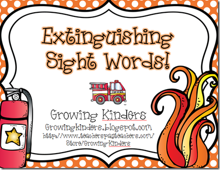 extinguish sight words