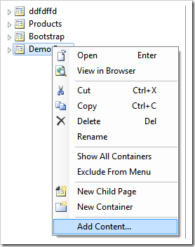 Adding content based on Bootstrap to a Touch UI app.