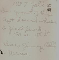 Alice Jinny Addle Verna 1937 Fall back