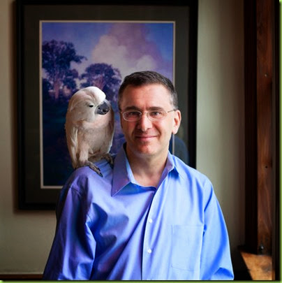 gruber and his pet cockatoo