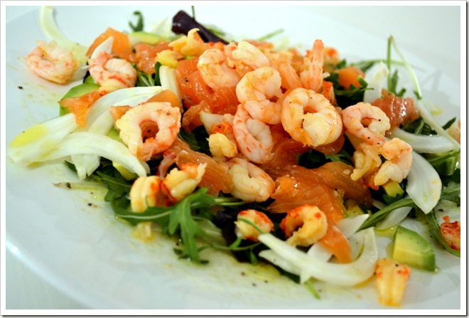 Seafood Salad with Wasabi Sauce (4)