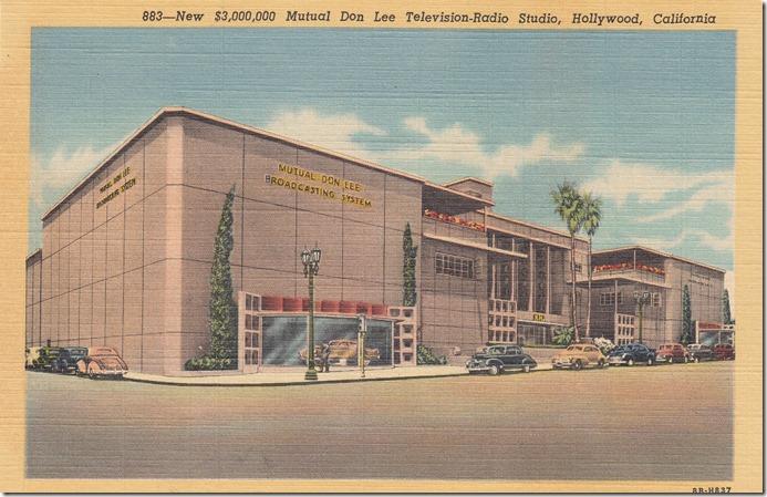 New 3 Million Dollar Mutual Don Lee Television -Radio Studio - Hollywood, California Pg. 1