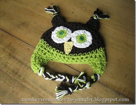 custom crochet owl hat (4)