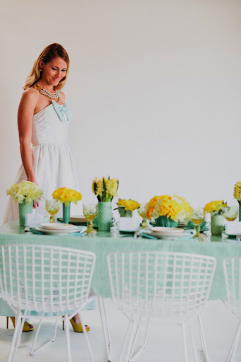 Color isn't just for the table! Think about incorporating it into your look!