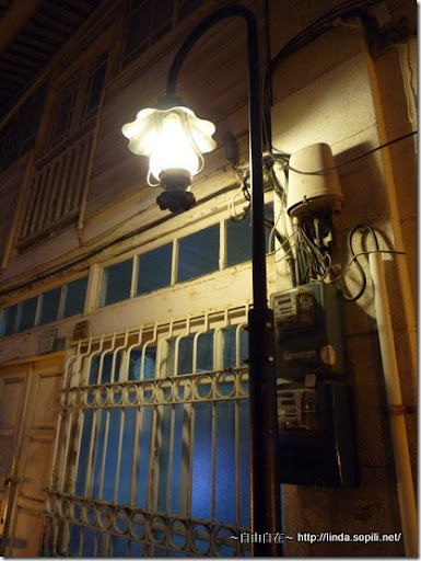 神農街(北勢街)-夜晚的路燈