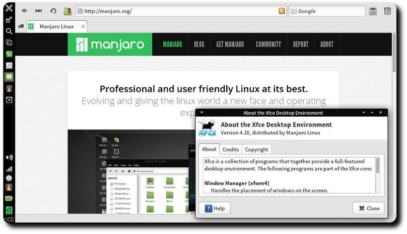 Manjaro 0.8.10 Netbook Edition - Browser