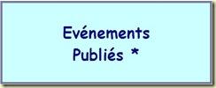 événements publiés