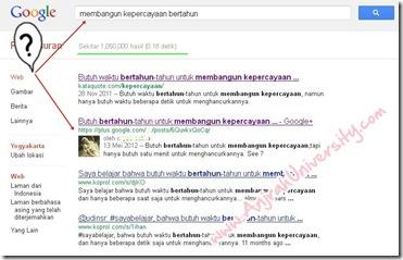 Cari traffic dan SEO google Plus 1 SERP