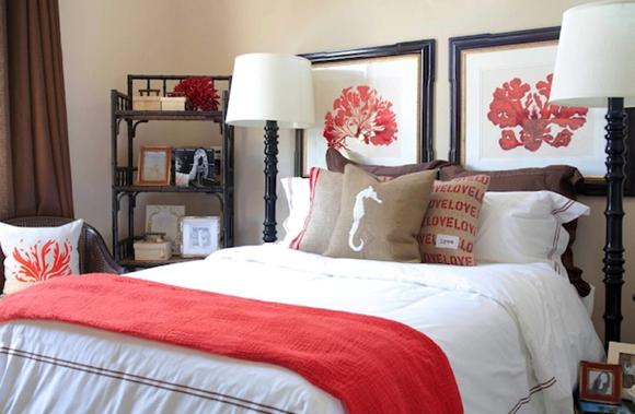Dormitorio de invitados que añade color y toques personales.