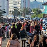 Los turistas aprovecharon el fin de semana largo en Punta del Este