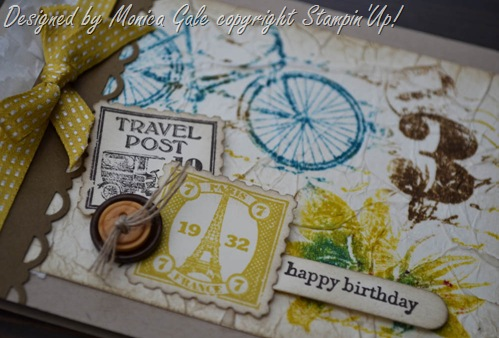 Stampin'Up!postage due card close up