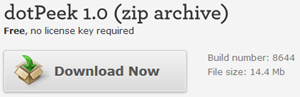 Download dotPeek 1.0 (ZIP Archive)