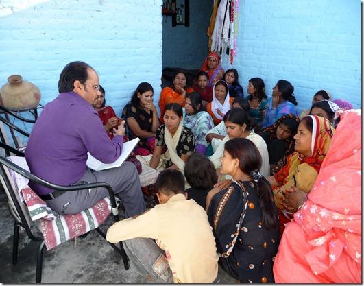 Shamim Masih with Christian Students