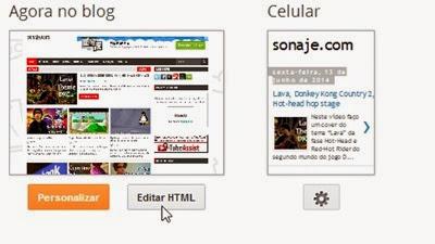 Blogger - Editar HTML