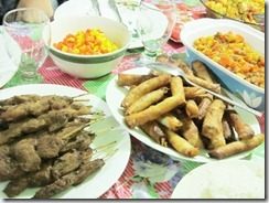 barbecue, corn and carrots, 240baon