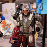 ironman and spiderman at Fanexpo 2014 in Toronto, Ontario, Canada