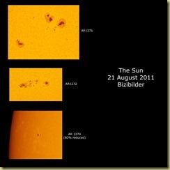21 August 2011 Sunspot close ups