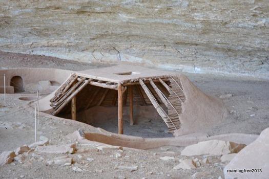 Kiva, with restored roof