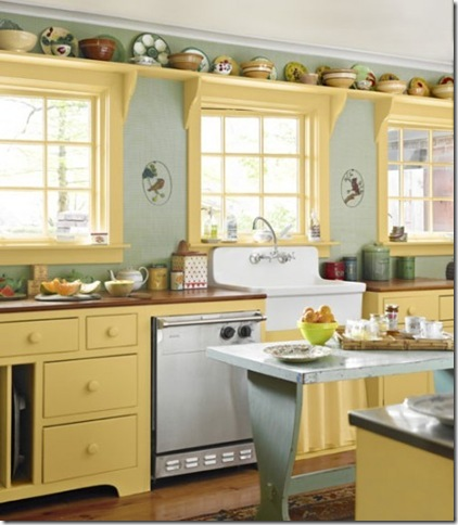 happy yellow kitchen