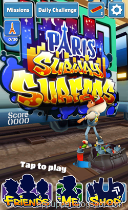 Free Download Subway Surf World Tour Paris v1.12.2 Android Game (APK)