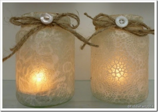 Lace effect tealight holders