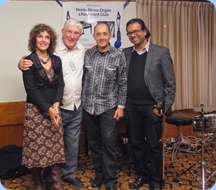 A snap-shot for the archives, as a remembrance of this stunning Concert. L to R: Maria O'Flaherty; Club President, Gordon Sutherland; Jason Orme; and the one and only Ben Fernandez. Photo courtesy of Dennis Lyons.