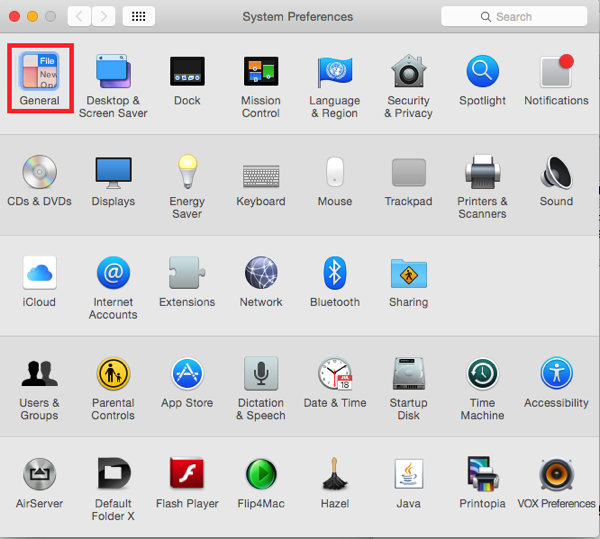 OS X Yosemite moving between prefernce panes using the Tab key
