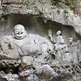 霊隠寺の仏像。岩壁に338体もの仏が並んでいる。 Photo by (c)Tomo.Yun