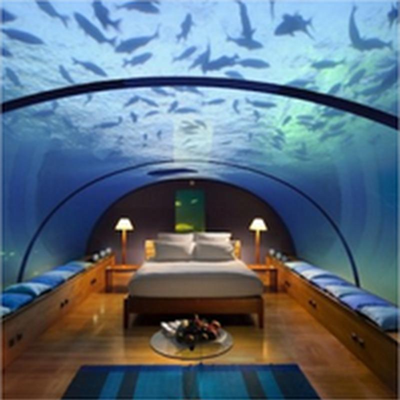 Un hotel con habitaciones submarinas