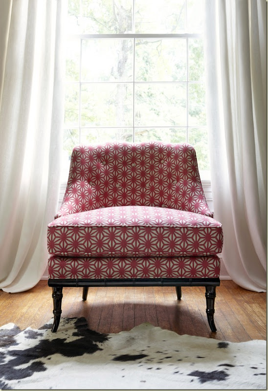 Brentwood Chair - Starburst Pink - Thibaut Fine Furniture