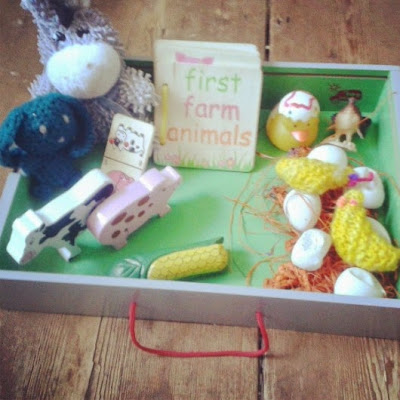 Farm play idea for babies