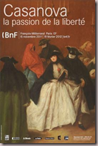 Exposition Giacomo Casanova  la BnF Mitterrand