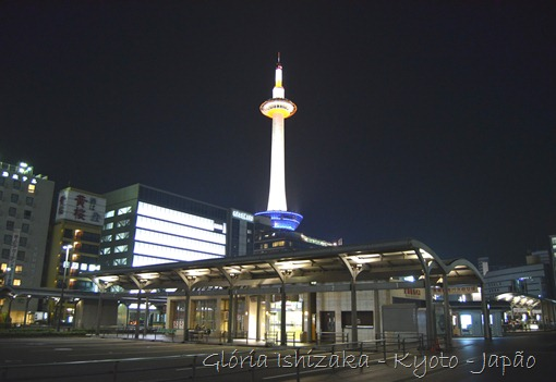 Gloria Ishizaka - Kyoto Tower vista noturna 1