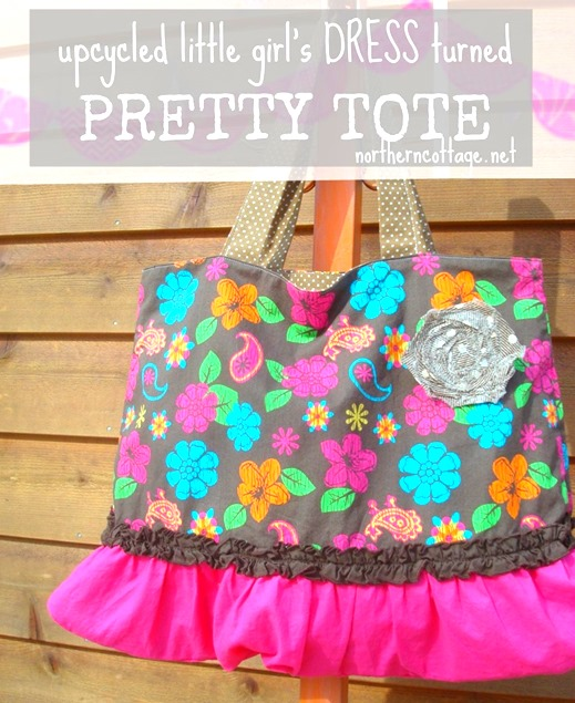 diy dress to tote transformation @NorthernCottage.net